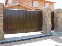 Откатные дачные ворота