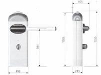 Габаритные размеры автоматического шлагбаума GARD4040: длина стрелы 4000 мм