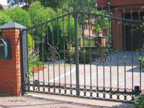 Фотография распашных ворот