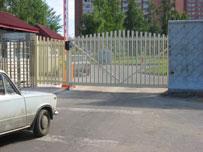 Промышленные ворота откатные и шлагбаум